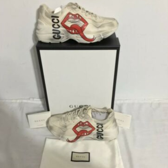 f97576136 Gucci Shoes | Rython Sneakers W Mouth Print | Poshmark